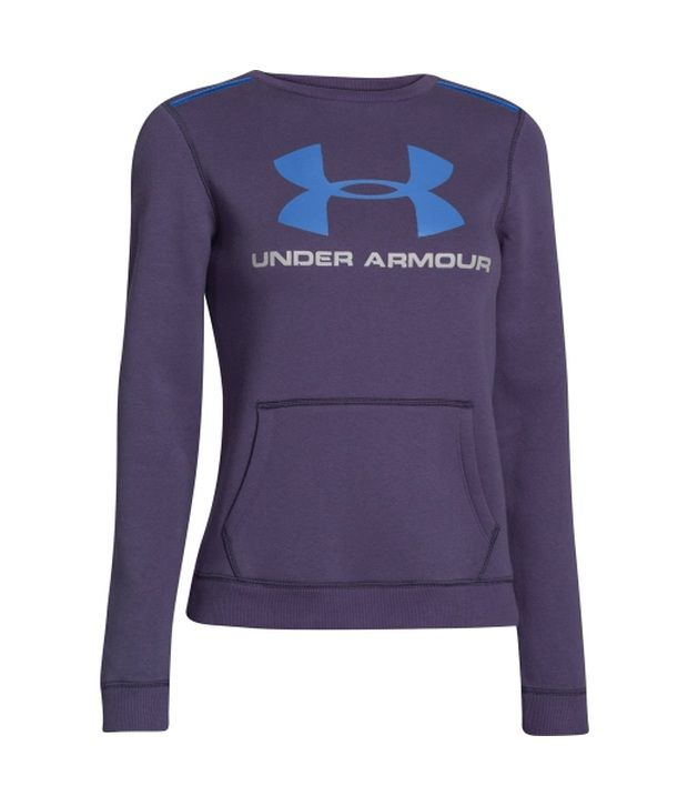 Under Armour Under Armour Women's Rival Crewneck Sweater, Legion Blue/velvet Plum