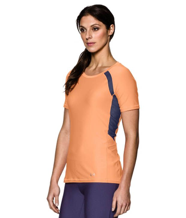 Under Armour Under Armour Women's Heatgear Armour Mesh Short Sleeve Shirt, Afterglow/faded Ink/msv