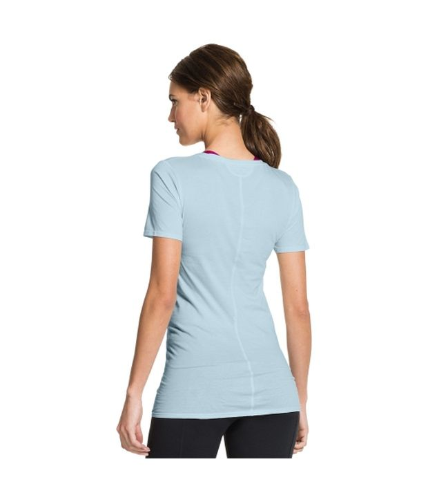 Under Armour Under Armour Women's Long And Lean Scoop Neck Short Sleeve Shirt, Faded Ink/faded Ink