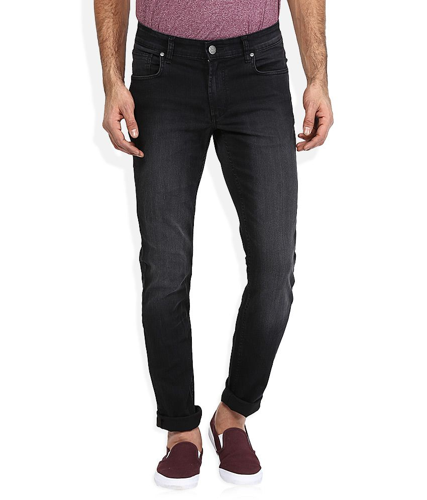 Ruf And Tuf Black Skinny Fit Jeans
