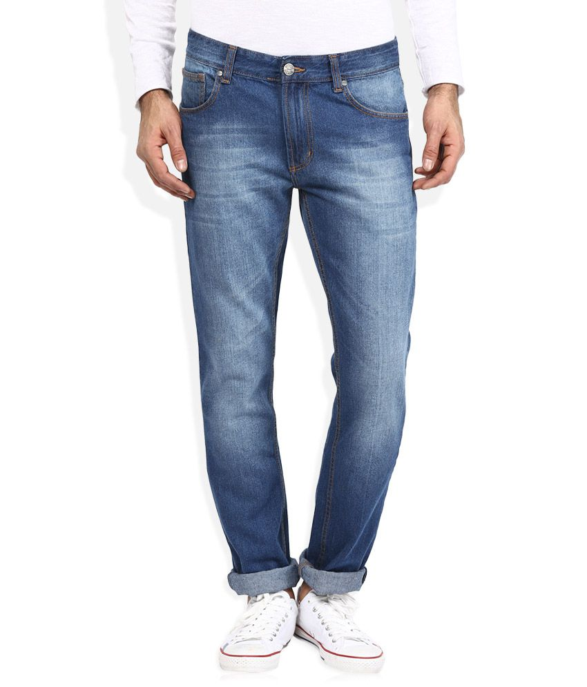 Ruf And Tuf Blue Slim Fit Jeans
