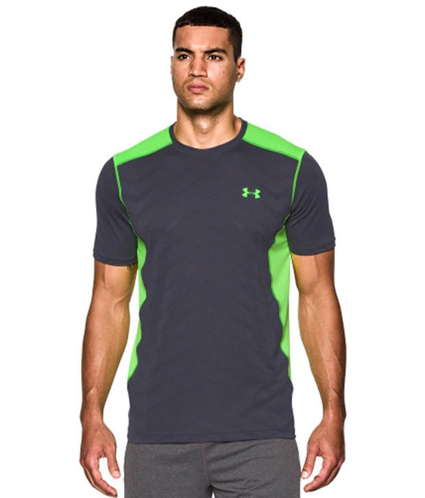 Under Armour EXO Raid T-Shirt, Stealth Gray/Hyper Green