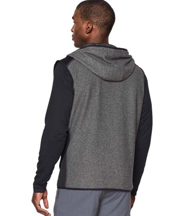 Under Armour Men's ColdGear Infrared Survival Fleece Hooded Vest Black/Black