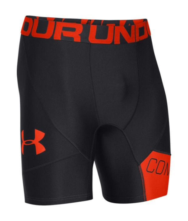 Under Armour Men's Combine Training Compression Shorts Black/Volcano/Black