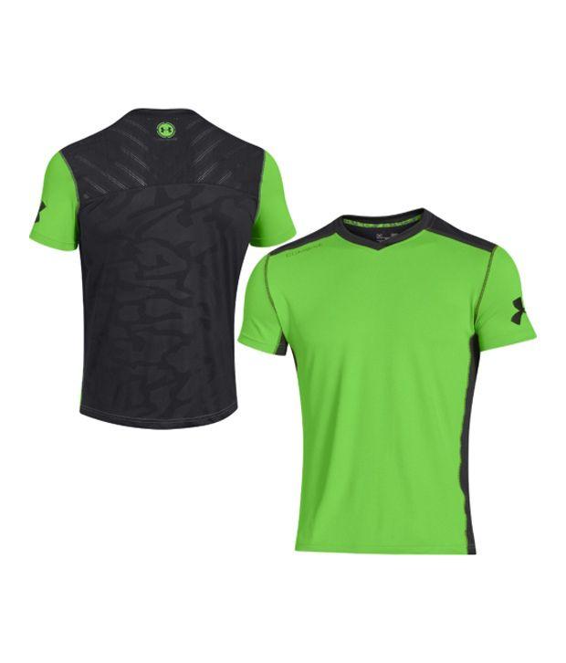 Under Armour Men's Combine Training Best In Class Short Sleeve Shirt, Gecko Gr/Black/Gecko Gr