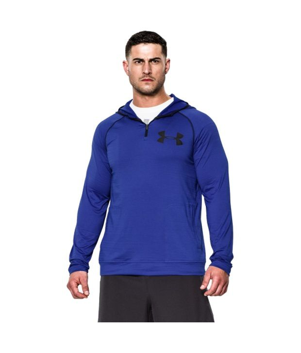 Under Armour Men's Combine Training Slub Fleece Quarter Zip Hoodie Black/Hvy