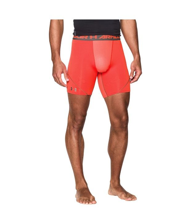 Under Armour Men's HeatGear Armour Stretch Compression Shorts Blue Jet/Hvy