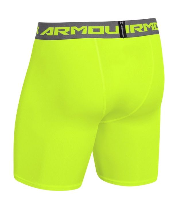 Under Armour Men's HeatGear Armour Compression Shorts - Mid Bolt Orange/Graphite