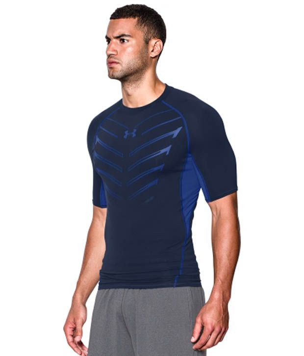 Under Armour Men's HeatGear Armour EXO Compression T-Shirt, Black/Stealth Gray