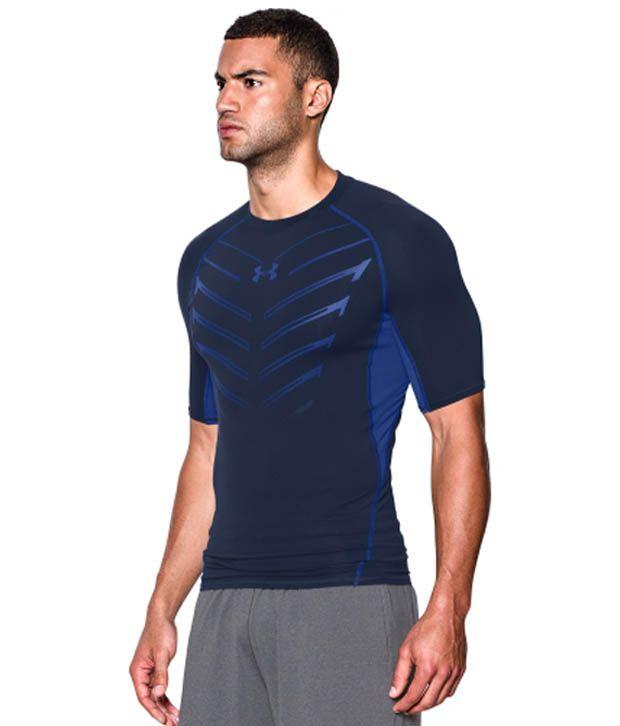Under Armour Men's HeatGear Armour EXO Compression T-Shirt, Black/Stealth Gray