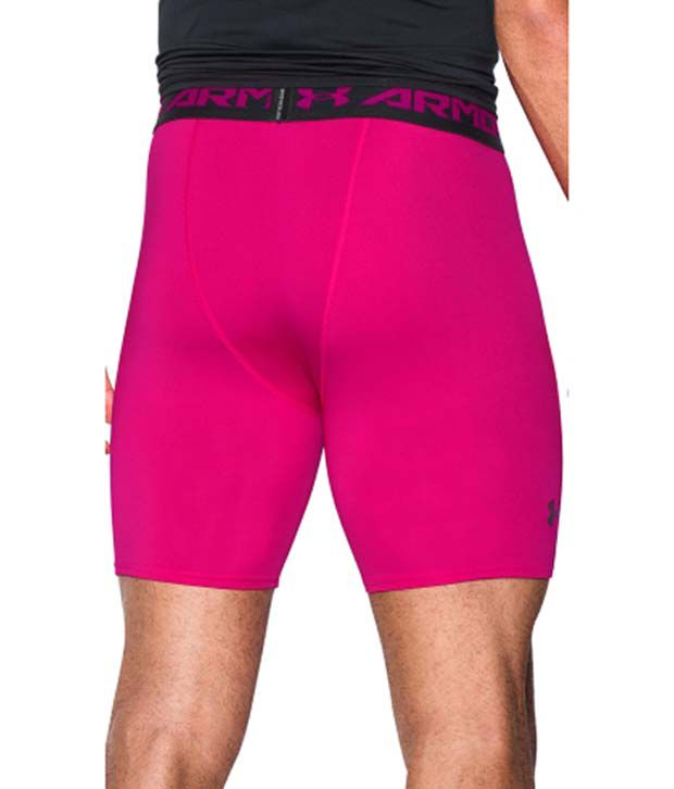 Under Armour Men s Power In Pink HeatGear Armour Compression Shorts - Mid  Length Tropic Pink Black  Buy Online at Best Price on Snapdeal a6efcad3c