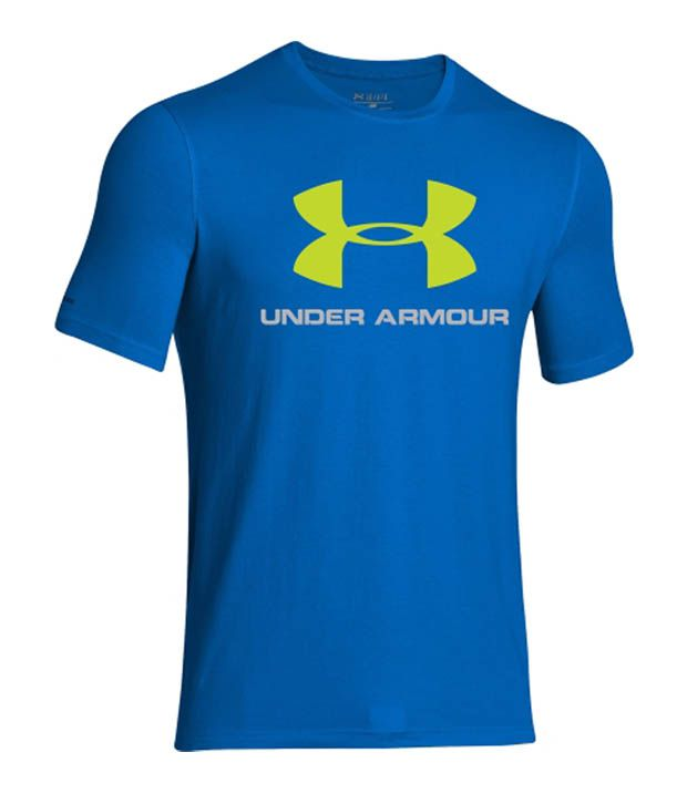 Under Armour Men's Sportstyle Logo Graphic T-Shirt, Black/Bluejet/Hivisyellow
