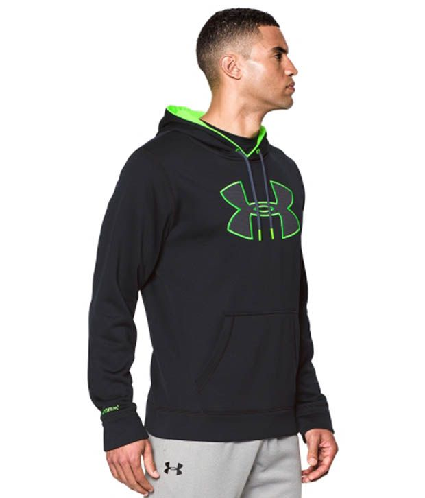 Under Armour Men's Storm Armour Fleece Big Logo Hoodie Bolt Orange/Academy