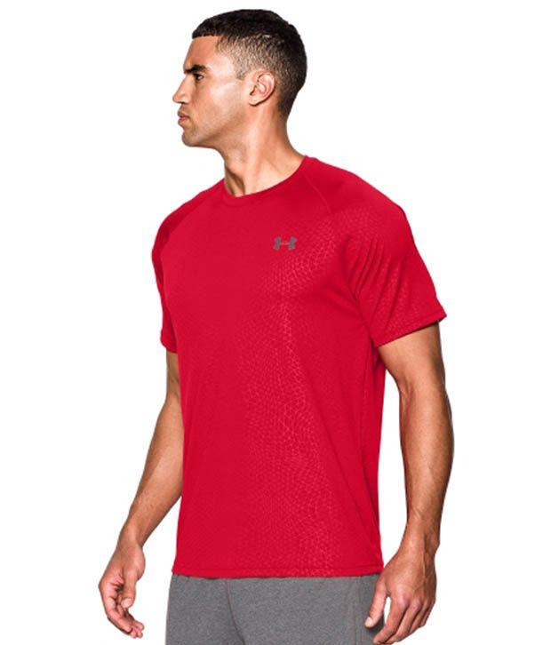 Under Armour Men's Tech Apex Patterned T-Shirt, Midnight Navy/Mdn