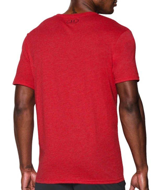 Under Armour Men's Tri-Blend Lockertag Graphic T-Shirt, Red/Deep Red