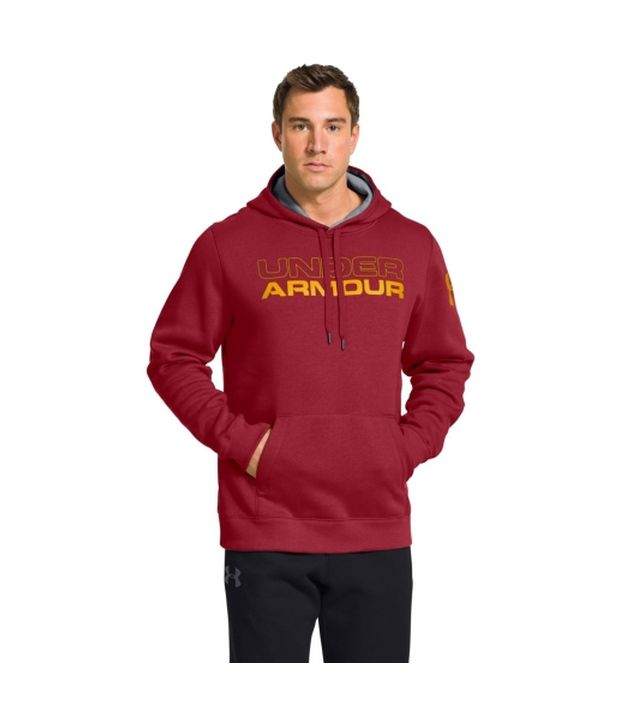 Under Armour Men's Undisputed Cotton Hoodie Steel/Black
