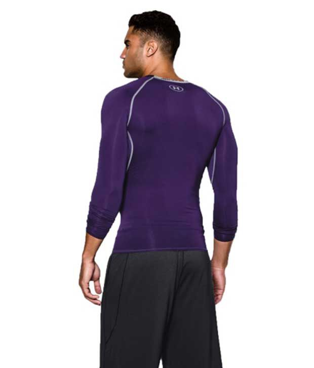 Under Armour Under Armour Men's Heatgear Armour Long Sleeve Compression Shirt, Bolt Orange/graphite