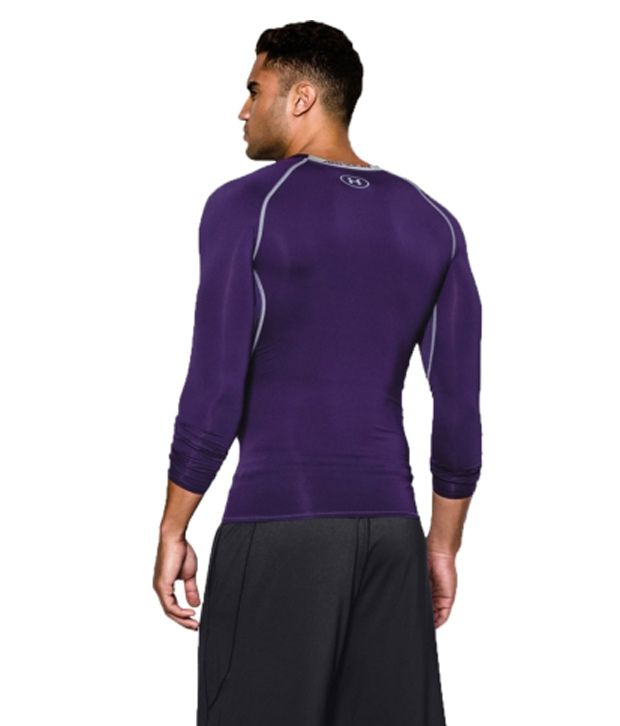 Under Armour Under Armour Men's Heatgear Armour Long Sleeve Compression Shirt, Purple