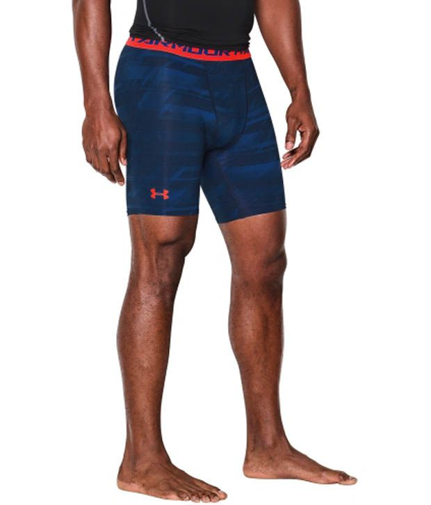 Under Armour Under Armour Men's Heatgear Armour Launch Print Compression Shorts, Steel/white/black