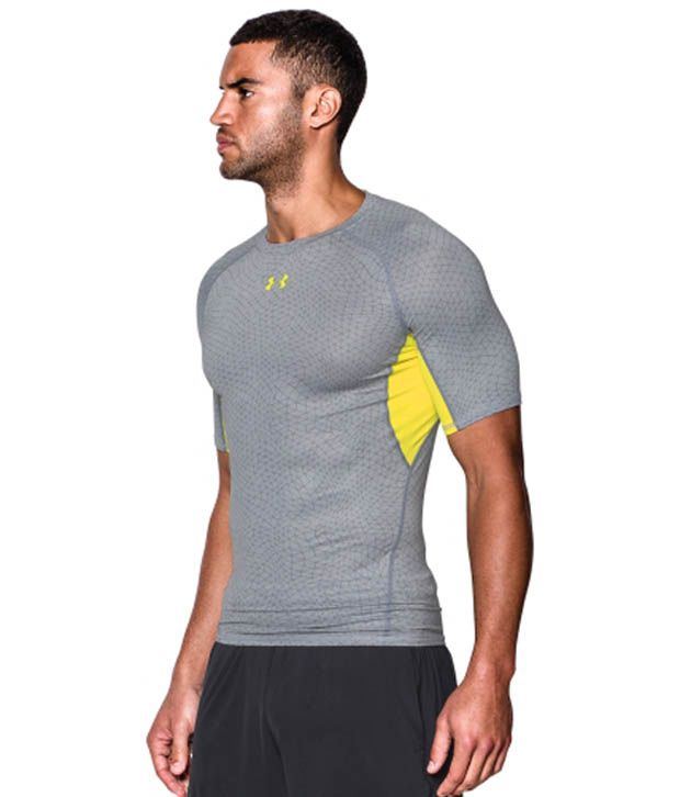 Under Armour Under Armour Men's Heatgear Armour Apex Print Compression T-shirt, Amalgam Grey/steel