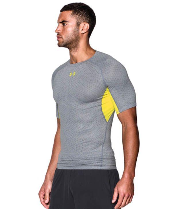 Under Armour Under Armour Men's Heatgear Armour Apex Print Compression T-shirt, Stealth Grey/black
