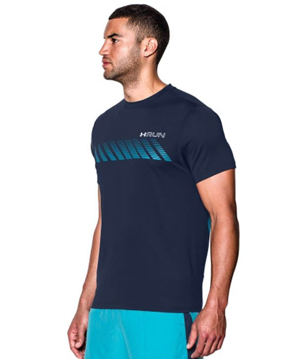 Under Armour Under Armour Men's Heatgear Armourvent Apollo Running T-shirt, Poison/stealth Grey