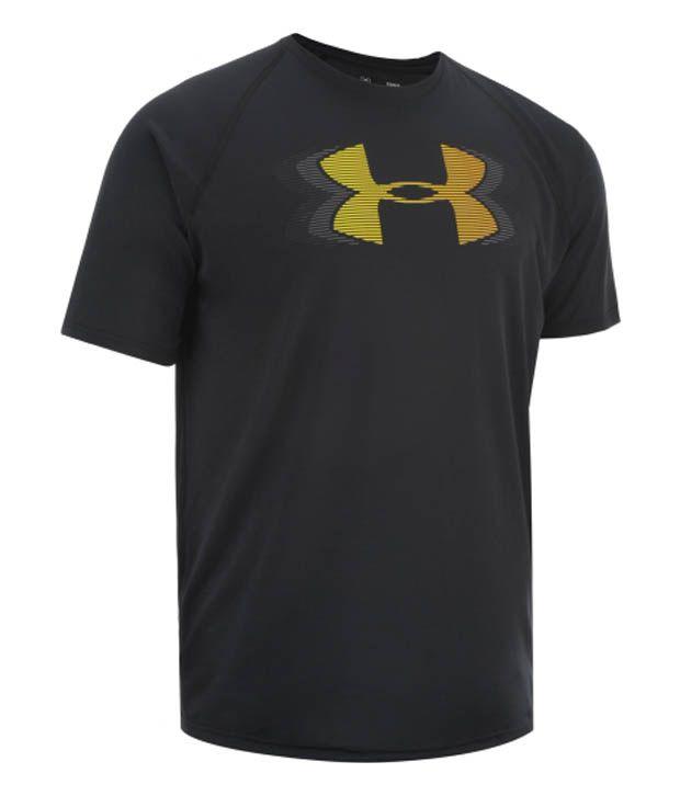 Under Armour Under Armour Men's Tech Logo Ripple T-shirt, Black/sunbleached