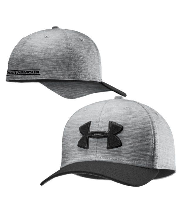 Under Armour Under Armour Men's Low Crown Stretch Fit Hat, Asphalt Heather