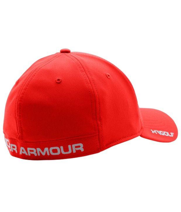 Under Armour Under Armour Men's Headline Stretch Fit Golf Hat, Bolt Orange
