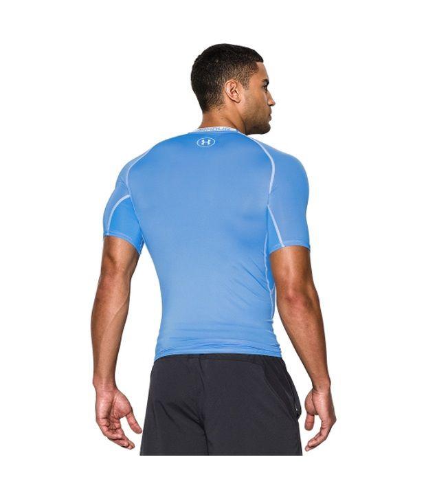 Under Armour Under Armour Men's Heatgear Armour Compression Short Sleeve Shirt, Bolt Orange/academy