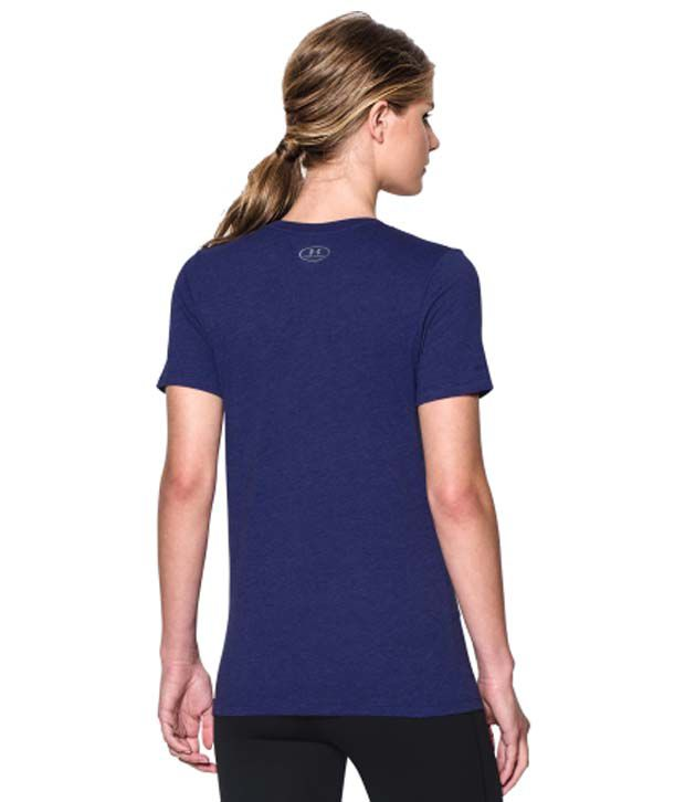 Under Armour Under Armour Women's Charged Cotton Tri-blend Wordmark V-neck T-shirt, Coho/white