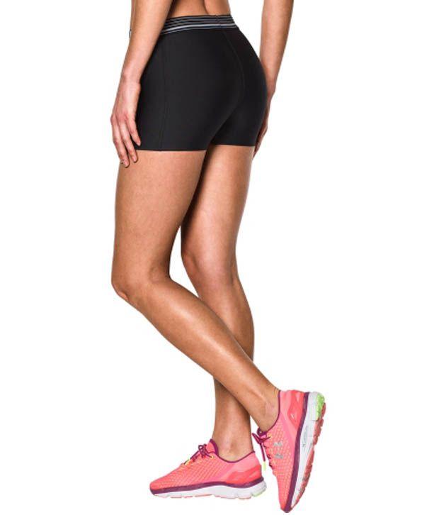 Under Armour Under Armour Women's Heatgear Armour 3 Inches Compression Shorts, Carbon Heather/rbp
