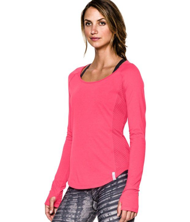 Under Armour Women's Fly-By Long Sleeve Shirt Black