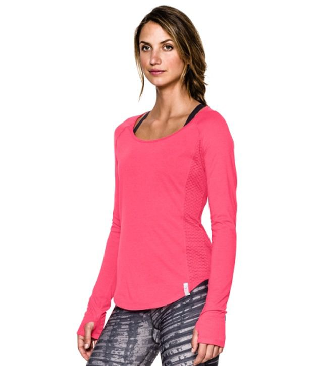 Under Armour Women's Fly-By Long Sleeve Shirt, Neo Pulse/Ref