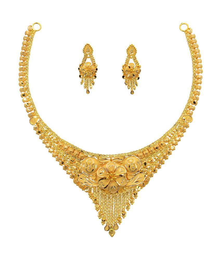 Abhijewels 22kt Gold Necklace Set