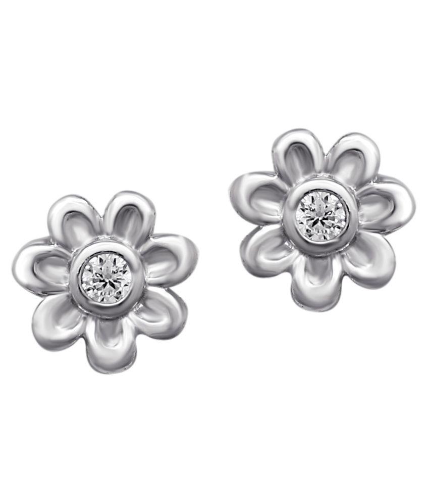 Om Jewells 92.5 Sterling Silver Stud Earrings
