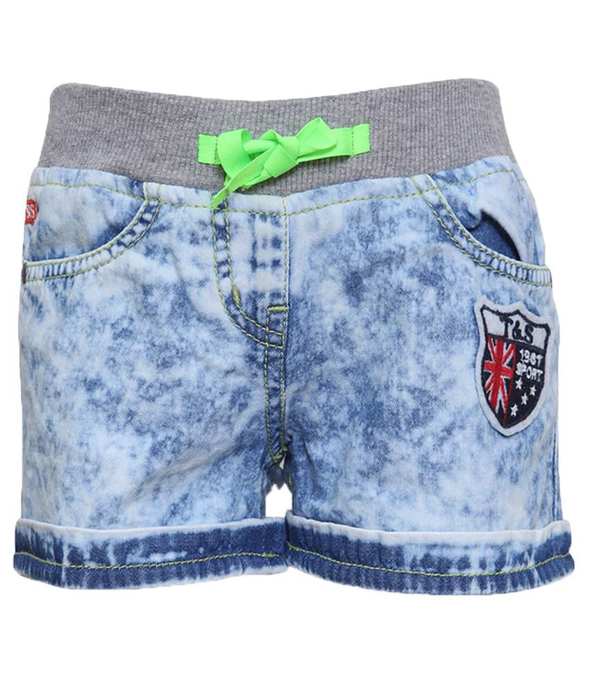 Tales & Stories Blue Denim Shorts