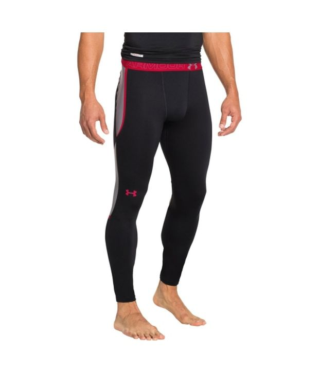 Under Armour Under Armour Men's Coldgear Armourvent Leggings, Black/risk Red