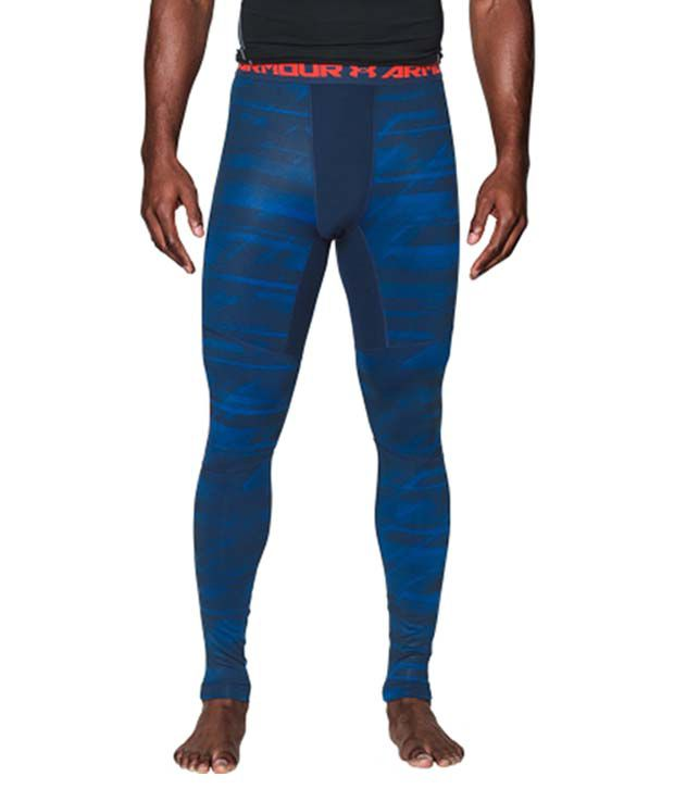 Under Armour Under Armour Men's Coldgear Armour Launch Print Compression Leggings, Stealth Gray/hyper Green