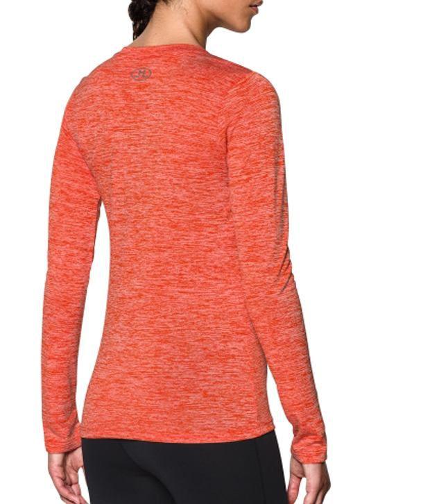 Under Armour Under Armour Women's Tech Twist Long Sleeve Shirt, Dark Orange