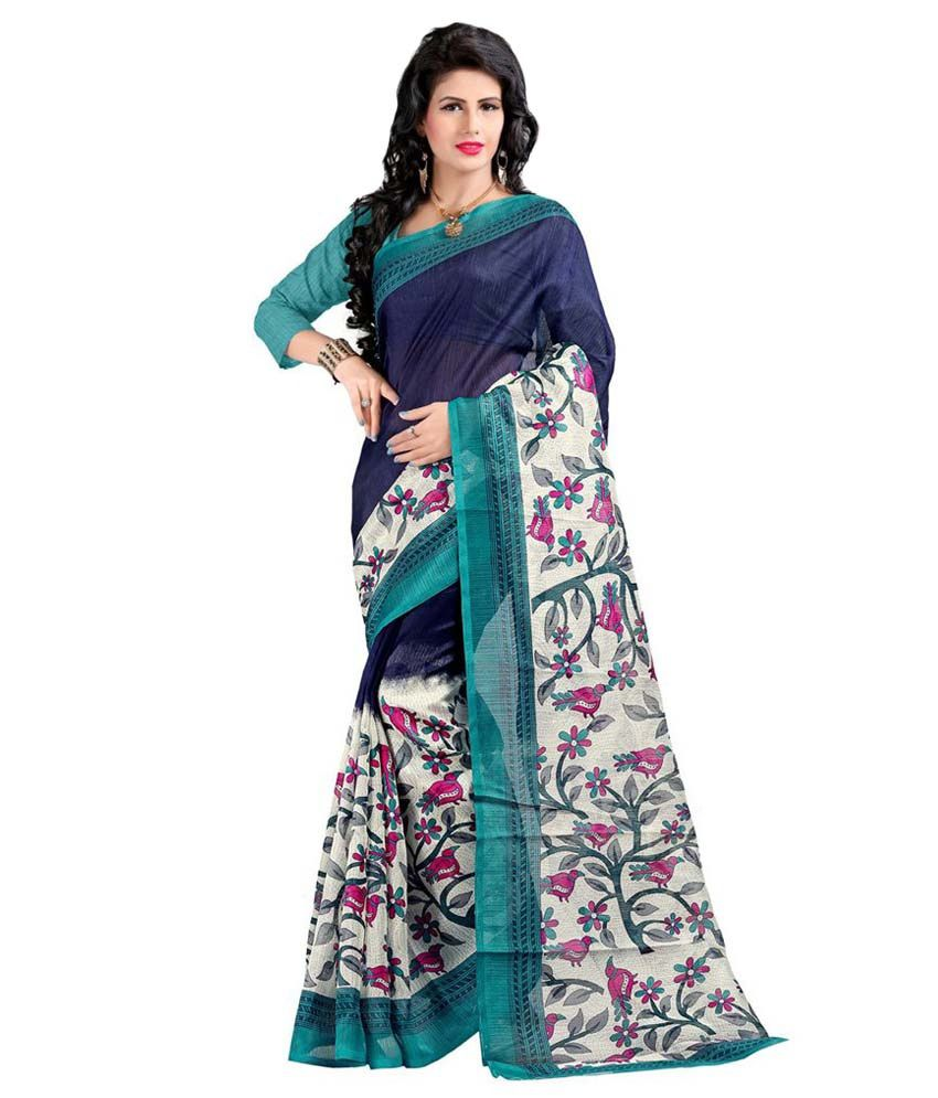 K.c. Multicoloured Bhagalpuri Silk Saree