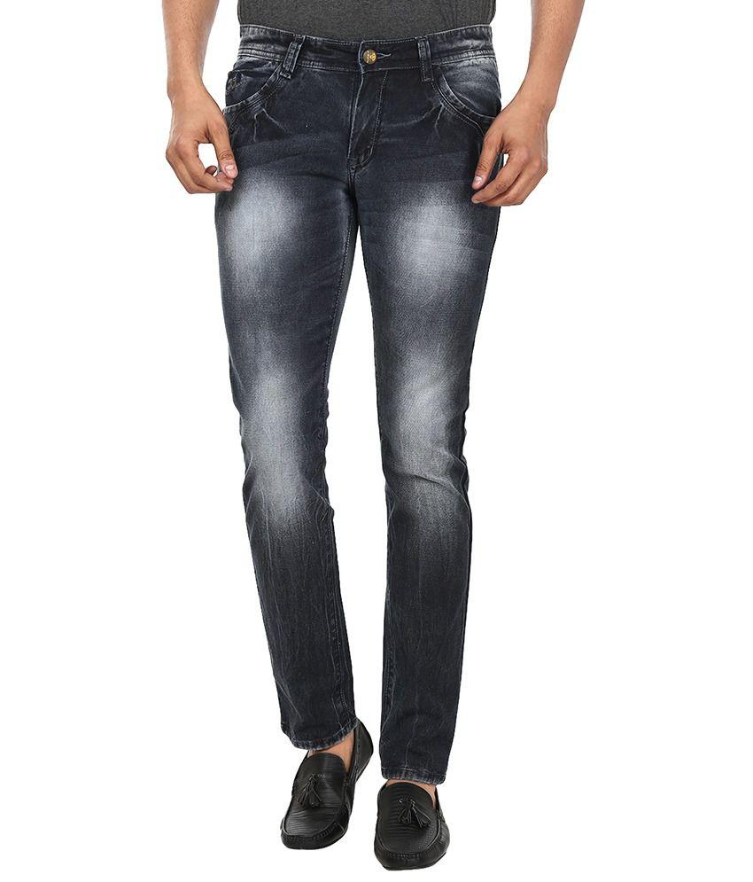 99 Degrees Black Slim Fit Jeans