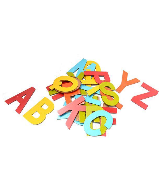 Aimedu Toy Multicolor Wooden Hard Board Cutout A-z Magnetic