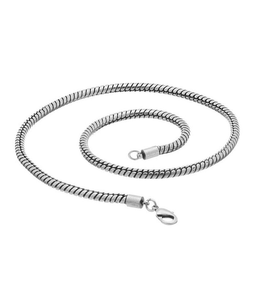 Factorywala Silver Alloy Chain