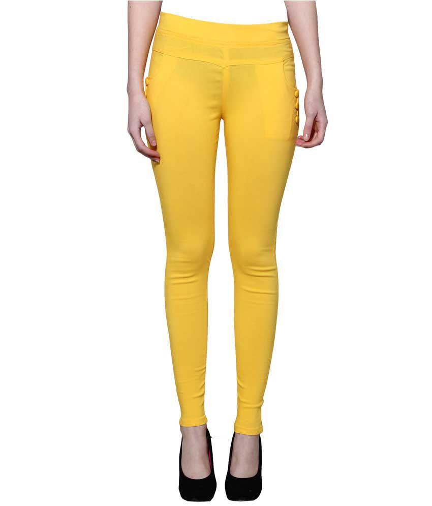 Lgc Yellow Poly Cotton Jeggings