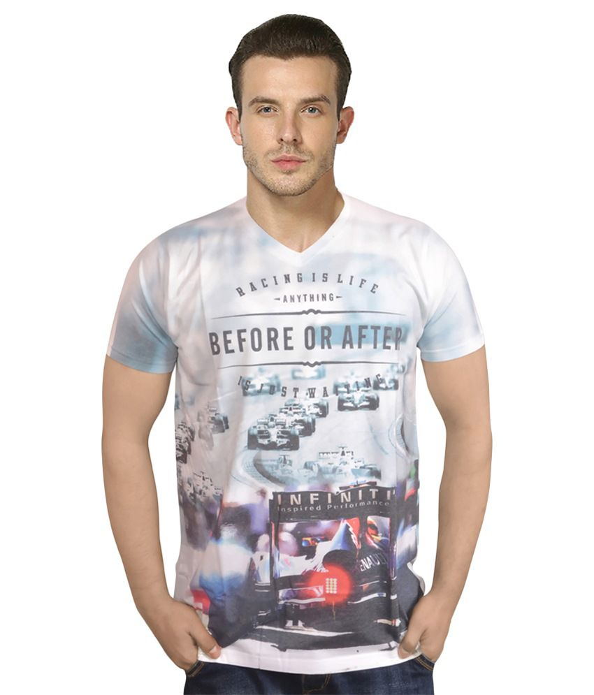 Lofox Multicolour Cotton T-shirt
