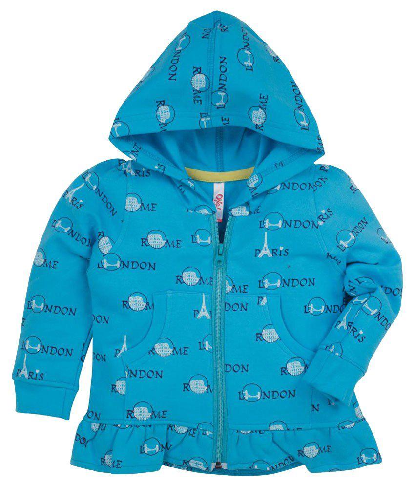 Oye Blue Hooded Cotton Sweatshirt