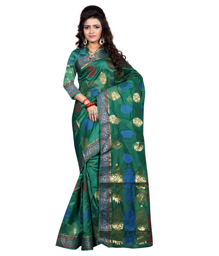 Sareeshop Designer Sarees Green Silk Saree