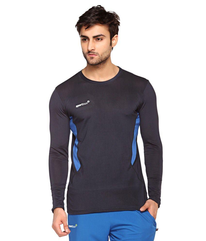 Sport Sun Navy Polyester T Shirt