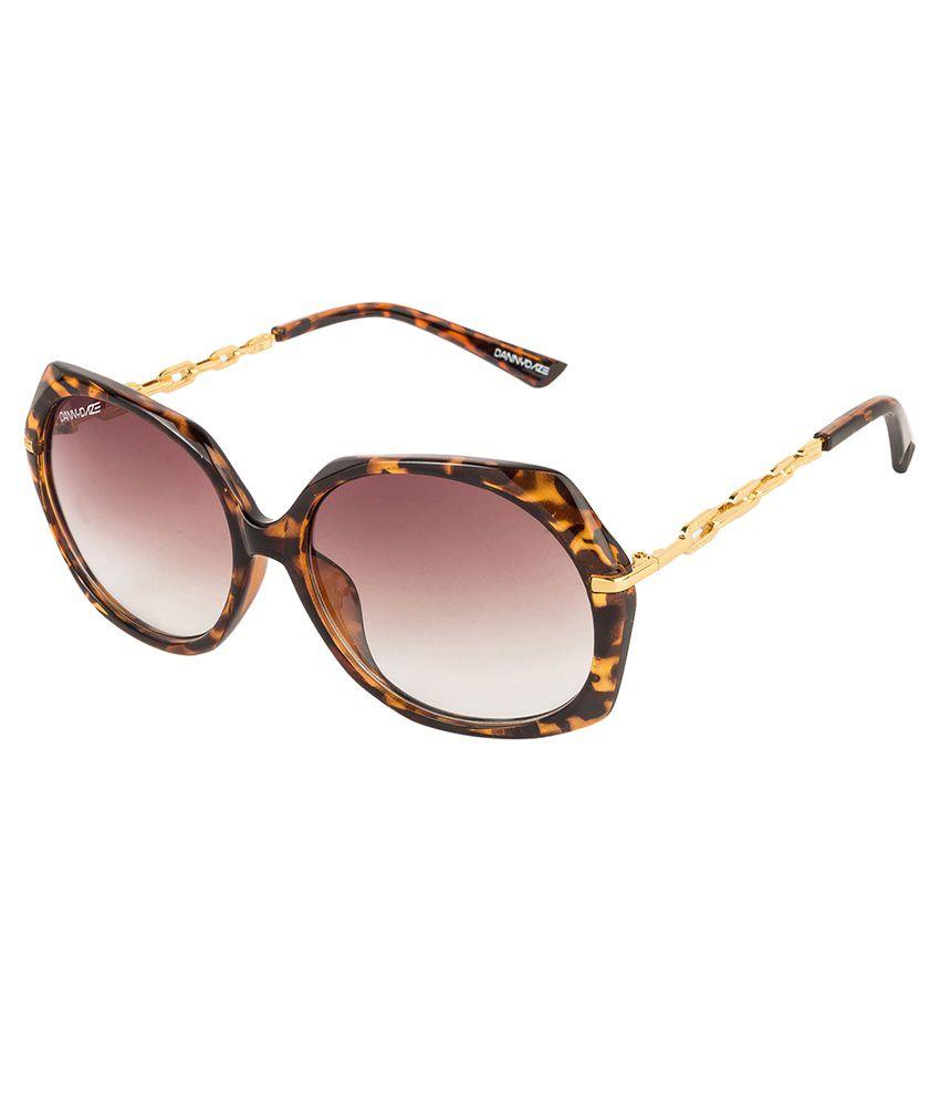 Danny Daze Golden Metal Sunglasses For Women